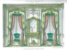 1stdibs | Traditional French 19th Century Curtains & Interior Designs