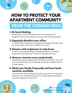 Not only is it flu season, but recently, the coronavirus has become widespread. Take some precautions to protect your apartment community from the coronavirus. have this flyer on hand in your leasing office as a helpful reminder.