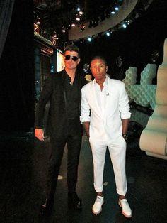 Pharrell& Robin Thicke, so much swag!
