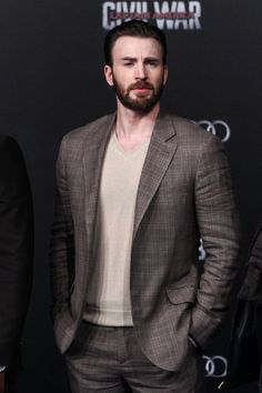 Chris looks really good here. Beijing press conference 4/19/16 for CA: CW.