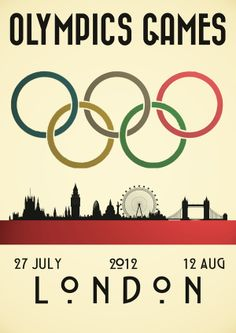 Vintage style London Olympics poster by Andrew Maunders.