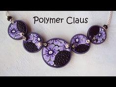 Murrina flor fucsia y violeta en arcilla polimérica - YouTube