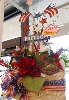 Memorial/ 4th of July Arrangements 2013 at your Michaels in Tustin (Irvine Blvd) CA -Christina Villasenor 3046