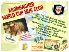 Get 60% more beer!  Join Three Lions Mug Club - FREE Personal Krombacher Half Litre Mug (Each member will have their own number for their own mug and can keep after the World Cup) - First Half Litre Krombacher FREE - FREE Exclusive Three Lions Pub World Cup 2014 T-Shirt - Every 10th Krombacher FREE - Instant entry to all giveaways - 60% more beer  Learn More:http://lionsden.threelionspub.com/mug-club/ #threelionspubmke