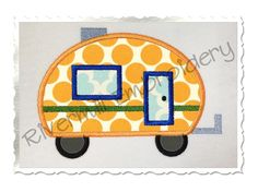 $2.95Applique Camper Machine Embroidery Design
