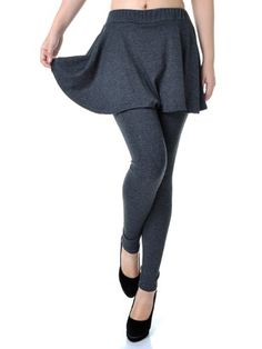 6364686ff2f0c Anna-Kaci Small Fit Grey High Waisted Ankle Length Slim Leg Skirt and  Leggings