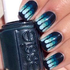 Blue psychedelic dotticure!!!  Love!!!