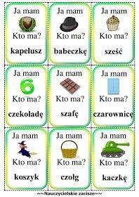 ja mam kto ma cz jak czapka Learn Polish, Polish Words, Speech And Language, Education, Learning, School, Origami, Speech Language Therapy, Montessori Activities