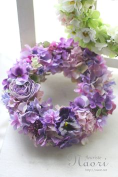 Purple wreath.