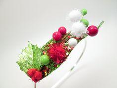 Whoville Inspired Mistletoe & Holly Headband - Grinch - Cindy Lou Who - Elf costume - Christmas Fascinator