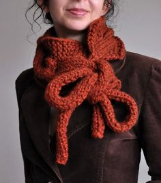 Twist Me Around - handknit superchunky designer cabled neckwarmer / scarf / cowl / wrap with long drawstrings MADE TO ORDER in 16 colors
