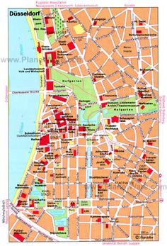 dusseldorf map of attractions