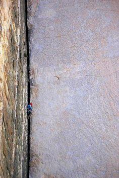 Pratt's Crack (5.9) in Pine Creek Canyon near Bishop, California.