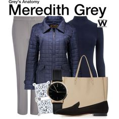 Inspired by Ellen Pompeo as Meredith Grey on Grey's Anatomy
