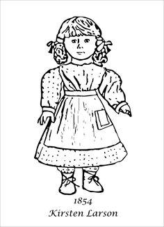 j american girl coloring pages | 15 Best American Girl images | Coloring pages for girls, American girls, American girl