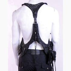 Km rii leather holster vest..(back)!