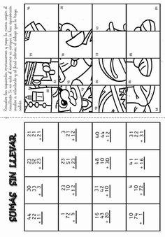 Actividades para niños preescolar, primaria e inicial. Fichas con sumas divertidas para imprimir para niños de primaria. Sumas Divertidas. 15
