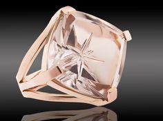 Cristal sobre oro rosa