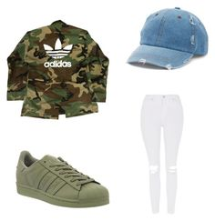""""" by rileyamour on Polyvore featuring adidas, Topshop and Mudd"