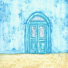 Sunbleached - an original original painting by Gill Tomlinson - inspired by high summer in a Greek village. Original Paintings, Greek, Kids Rugs, Inspired, The Originals, Summer, Home Decor, Art, Art Background