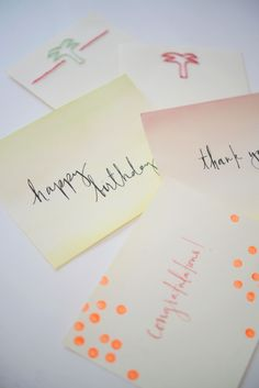 Take a little break from the summer heat and come inside to make your own stationery!  #summer #notes