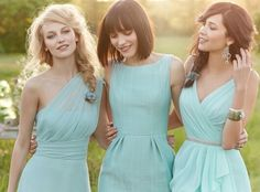 Mint bridesmaids menta damas de honor dame nozze