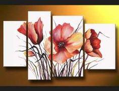 Flores Modernos Tripticos , Lilas Violetas Oportunidad!!! - $ 1.750,00