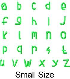 FREE SMALL Size Lower Case Font for Stacked Names