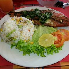 Fresh from the sea: do you like barbecue fish? with a ''sauce chien''  a spicy sauce from Guadeloupe Islands