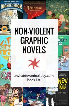 Childrens Graphic Novels with No Violence Tired of all the battle scenes and violent plots in graphic novels? Try these nonviolent graphic novels for kids–they are still full of action and suspense! Best Children Books, Books For Boys, Childrens Books, Teen Books, Read Aloud Books, Good Books, Ya Books, Funny Science, Science Fiction