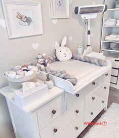baby room Wickelkommode Ikea Hemnes jenna_franke I - Baby Room Themes, Baby Boy Rooms, Baby Bedroom, Ikea Bedroom, Nursery Room, Baby Room Decor For Boys, Girl Nursery, Ikea Baby Room, Room Baby