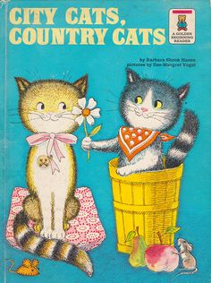 City Cats, Country Cats by my vintage book collection (in blog form), via Flickr