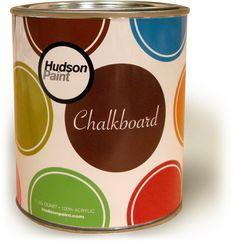 Chalkboard paint comes in multiple colors? I am so behind. Very cool!