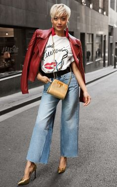 Fashion Look 2017 Casual Skirt Outfits, Jean Outfits, Love Fashion, Autumn Fashion, Fashion Outfits, Fasion, Jeans Style, Shirt Style, T Shirt Branca