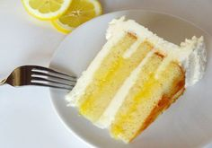 Lemon Cake with Lemon Curd Filling - Recipe - The Answer is Cake
