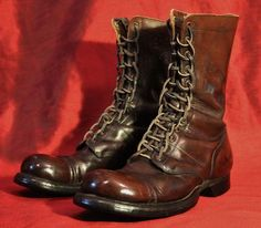 Original WWII Paratrooper Corcoran Jump Boots with Ladder Lacing.