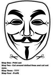 masque anonymous a imprimer - Recherche Google