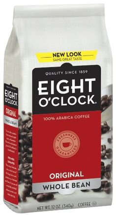 Eight OClock Coffee, Original Whole Bean, 12-Ounce Bag (Pack of 4) Image