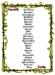 First Grade Wow  Great alphabetic adjective poem