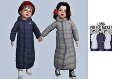 The Sims 4 Long puffer jacket by casteru Toddler Cc Sims 4, Sims 4 Toddler Clothes, Sims 4 Cc Kids Clothing, Sims 4 Teen, Sims 4 Mods Clothes, Sims Cc, Toddler Outfits, The Sims 4 Pc, Sims Four