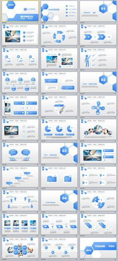 33+ Blue lowpoly Business Report PowerPoint Templates