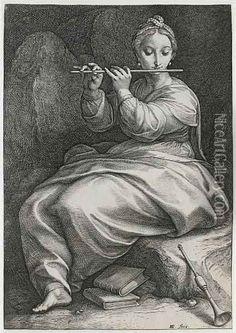 °Euterpe (from The Nine Muses) - Hendrick Goltzius - @LauChansArt