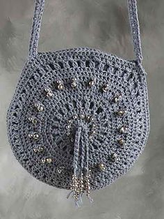 Crochet Accessories - Crochet Purse Patterns - Denim Bag & Belt Free Crochet Pattern