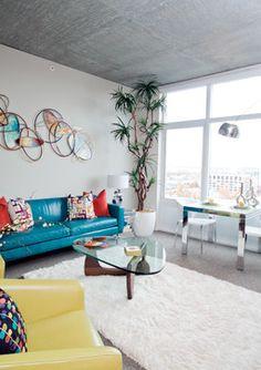 Contemporary/Mid Century Modern Condominium & Vacation Home - modern - living room - phoenix - Chimera Interior Design