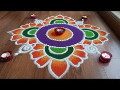 Here is a Diwali rangoli designs,rangoli designs with colours for diwali and dussehra . It is based on one of my original rangoli designs and I have tried to. Easy Rangoli Designs Diwali, Simple Rangoli Designs Images, Rangoli Designs Flower, Free Hand Rangoli Design, Free Hand Designs, Rangoli Border Designs, Small Rangoli Design, Rangoli Patterns, Rangoli Ideas