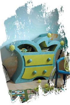 cardboard furniture for kids - site in french