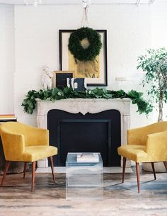 via lonny mag.gold and green mod.