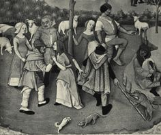 """1374 - the """"Dancing Mania"""" thought to prevent people being infected by the Black Deat."""