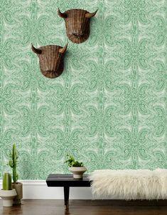 Andanza (Green) – Hygge  amp  West Designer Wallpaper 1e599b3020
