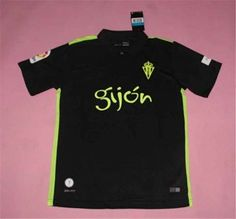 Sporting Gijon 16-17 Season Away Black Soccer Jersey [G892]